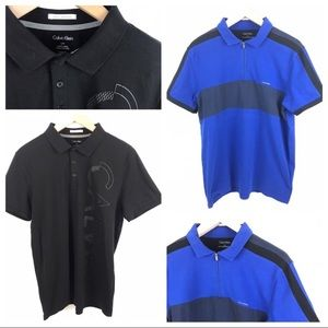 Two Calvin Klein Polo Men's L